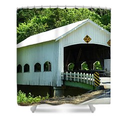 Rochester Bridge Shower Curtain by Methune Hively