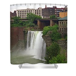 Shower Curtain featuring the photograph Rochester, New York - High Falls 2 by Frank Romeo