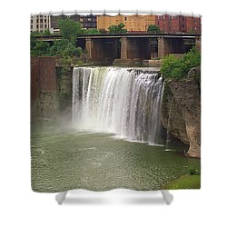 Shower Curtain featuring the photograph Rochester, New York - High Falls by Frank Romeo