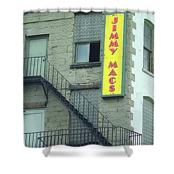 Shower Curtain featuring the photograph Rochester, New York - Jimmy Mac's Bar 2 by Frank Romeo