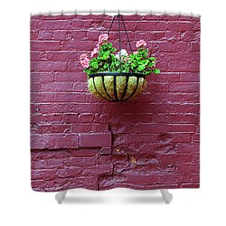 Shower Curtain featuring the photograph Rochester, New York - Purple Wall by Frank Romeo