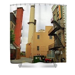 Rochester, Ny - Behind The Bar And Factory 2005 Shower Curtain by Frank Romeo