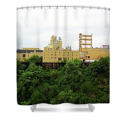 Shower Curtain featuring the photograph Rochester, Ny - Factory On A Hill by Frank Romeo