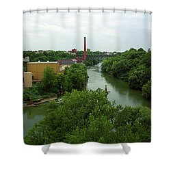 Rochester, Ny - Genesee River 2005 Shower Curtain by Frank Romeo