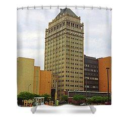 Rochester, Ny - Kodak Building 2005 Shower Curtain by Frank Romeo