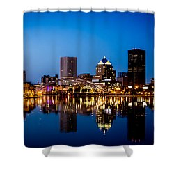 Rochester Reflections Shower Curtain by Sara Frank