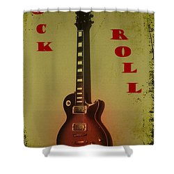 Rock And Roll Shower Curtain by Bill Cannon