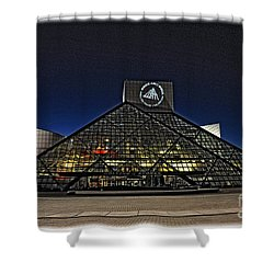 Shower Curtain featuring the photograph Rock And Roll Hall Of Fame - Cleveland Ohio - 5 by Mark Madere