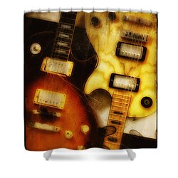Rock And Roll Never Forgets Shower Curtain by Bill Cannon