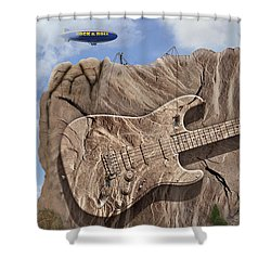 Rock And Roll Park 2 Shower Curtain