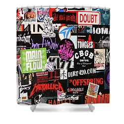 Rock And Roll Stickers Shower Curtain