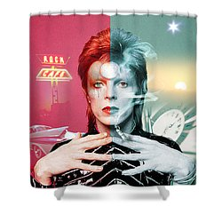 Rock And Roll Suicide Shower Curtain
