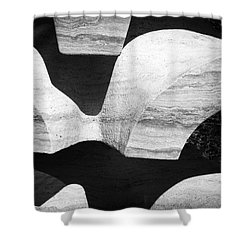 Rock And Shadow Shower Curtain