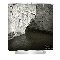 Shower Curtain featuring the photograph Rock And Water by Sebastian Mathews Szewczyk