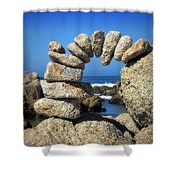 Rock Art One Shower Curtain by Joyce Dickens