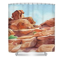 Rock Away Shower Curtain by Sandy Fisher