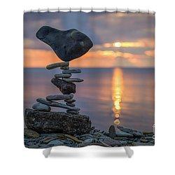 Rock Boarding Shower Curtain