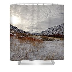 Rock Bound Sun Shower Curtain