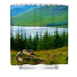 Rock Cairns In Scotland Shower Curtain