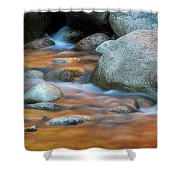 Rock Cave Reflection Nh Shower Curtain
