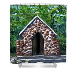 Rock Chapel Desoto Parish, Louisiana Shower Curtain