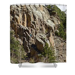 Shower Curtain featuring the photograph Rock Climbers Paradise by James BO Insogna