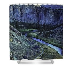 Rock Climbing Mecca Shower Curtain