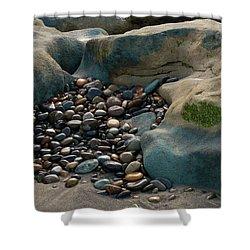 Rock Cradle Shower Curtain by Randy Bayne