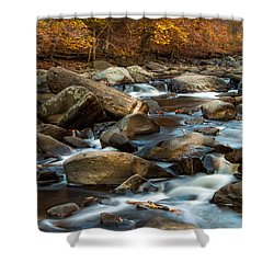 Rock Creek Shower Curtain by Ed Clark