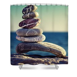 Rock Energy Shower Curtain by Stelios Kleanthous