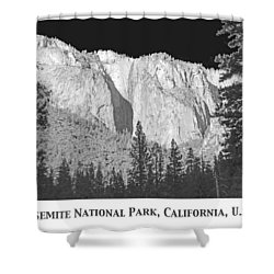 Shower Curtain featuring the photograph Rock Formation Yosemite National Park California by A Gurmankin