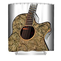 Rock Guitar 1 Shower Curtain