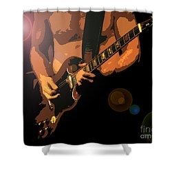 Rock Hero Shower Curtain by David Lee Thompson