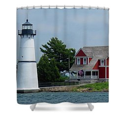 Rock Island Lighthouse July Shower Curtain