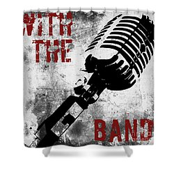 Rock N Roll Microphone  Shower Curtain