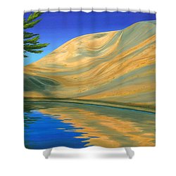 Shower Curtain featuring the painting Rock Of Ages by Michael Swanson