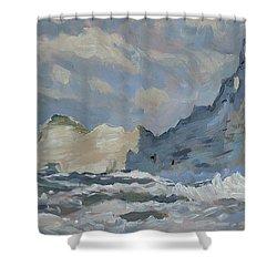 Rock Of Amont Etretat Shower Curtain