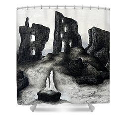 Rock Of The Candle Shower Curtain
