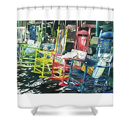 Rock On Shower Curtain by LeAnne Sowa