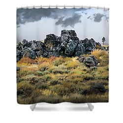Shower Curtain featuring the photograph Rock Outcrop by Frank Wilson