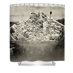 Rock Shower Curtain by Patrick M Lynch