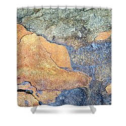 Shower Curtain featuring the photograph Rock Pattern by Christina Rollo