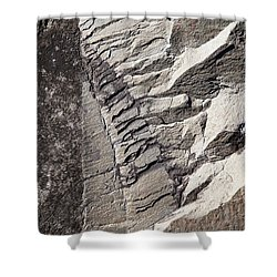 Rock Patterns Shower Curtain by Michele Cornelius