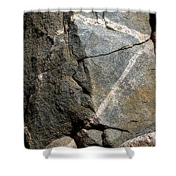 Rock Patterns-signed-#9753 Shower Curtain