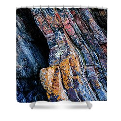 Shower Curtain featuring the photograph Rock Pattern Sc01 by Werner Padarin