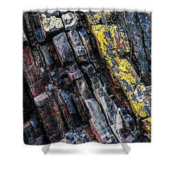 Shower Curtain featuring the photograph Rock Pattern Sc02 by Werner Padarin