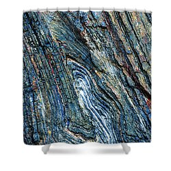 Shower Curtain featuring the photograph Rock Pattern Sc03 by Werner Padarin