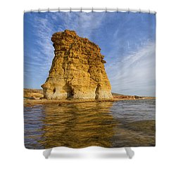 Rock Pillar At Wilson Lake Shower Curtain