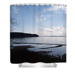 Shower Curtain featuring the photograph Rock Point North View Vertical by Felipe Adan Lerma