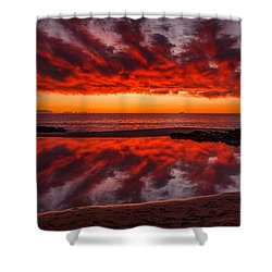 Rock Pool Reflections Shower Curtain